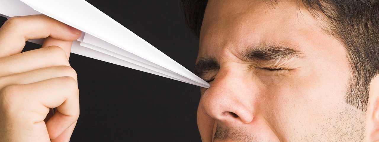 Man Poking Eye Paper Airplane 1280x480